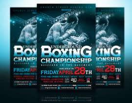 nº 46 pour Design a Poster for a Boxing Event on April 28 par abhilashkp33