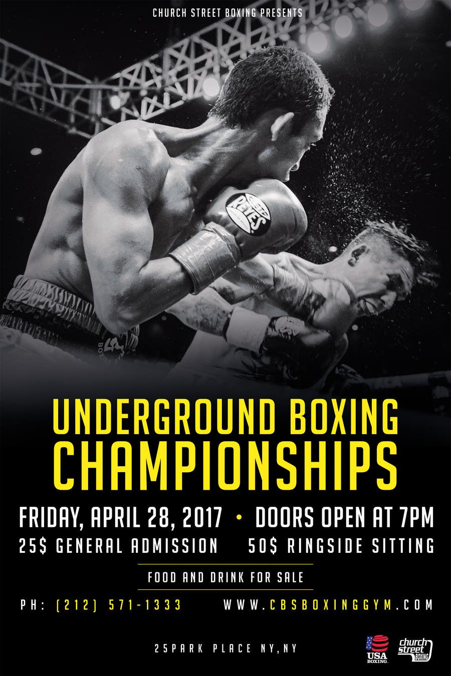 Proposition n°24 du concours Design a Poster for a Boxing Event on April 28