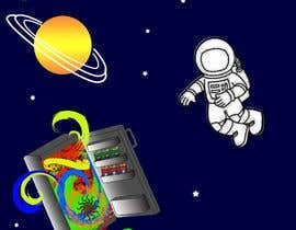 nº 2 pour Adobe illustrator - Astronaut flying away from Refrigerator with random things flying out par sonalfriends86
