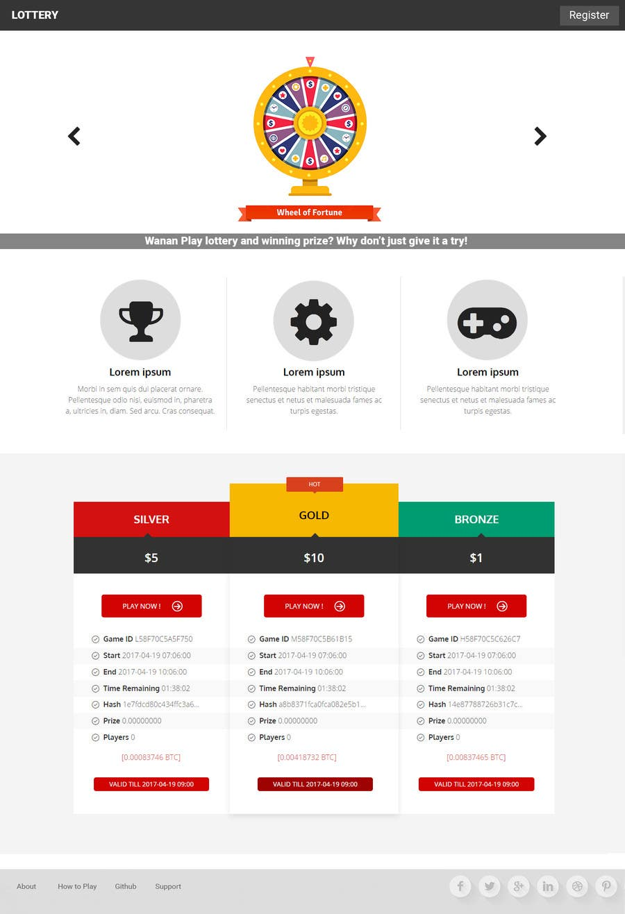 Proposition n°5 du concours logo + website design for lottery an easy task for a designer