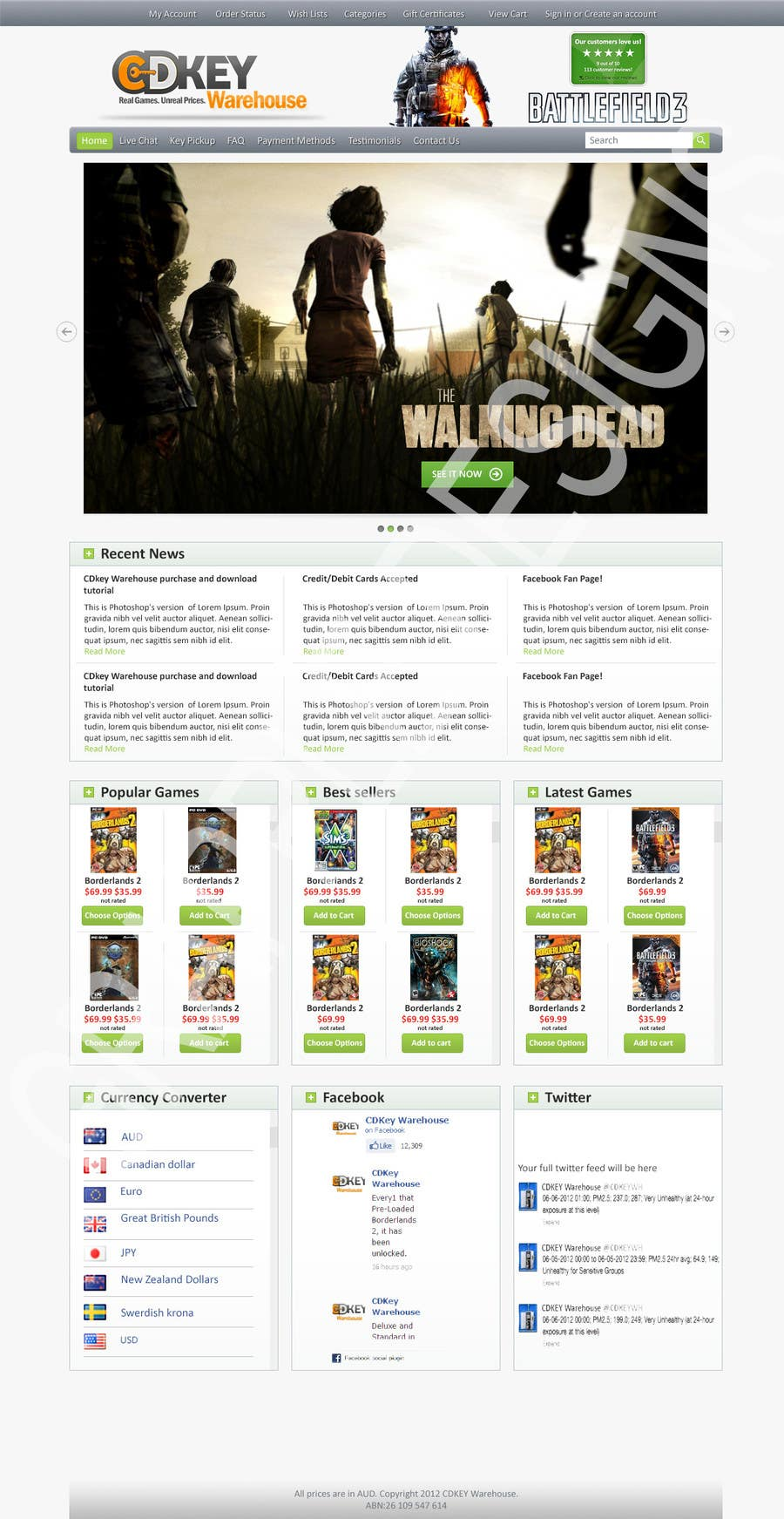 Entry #1 by GrappleDesigns for Website Design for CDKEY