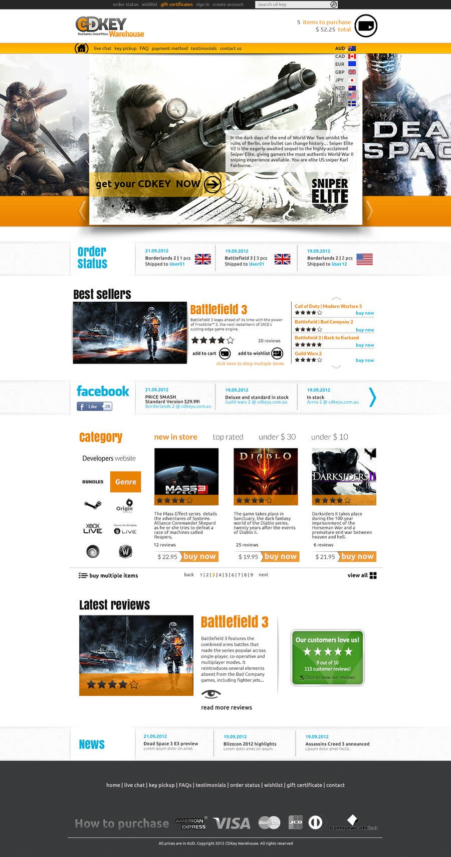 #11 for Website Design for CDKEY Warehouse for interspire shopping cart by hipnotyka
