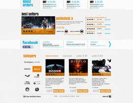 Nro 14 kilpailuun Website Design for CDKEY Warehouse for interspire shopping cart käyttäjältä hipnotyka
