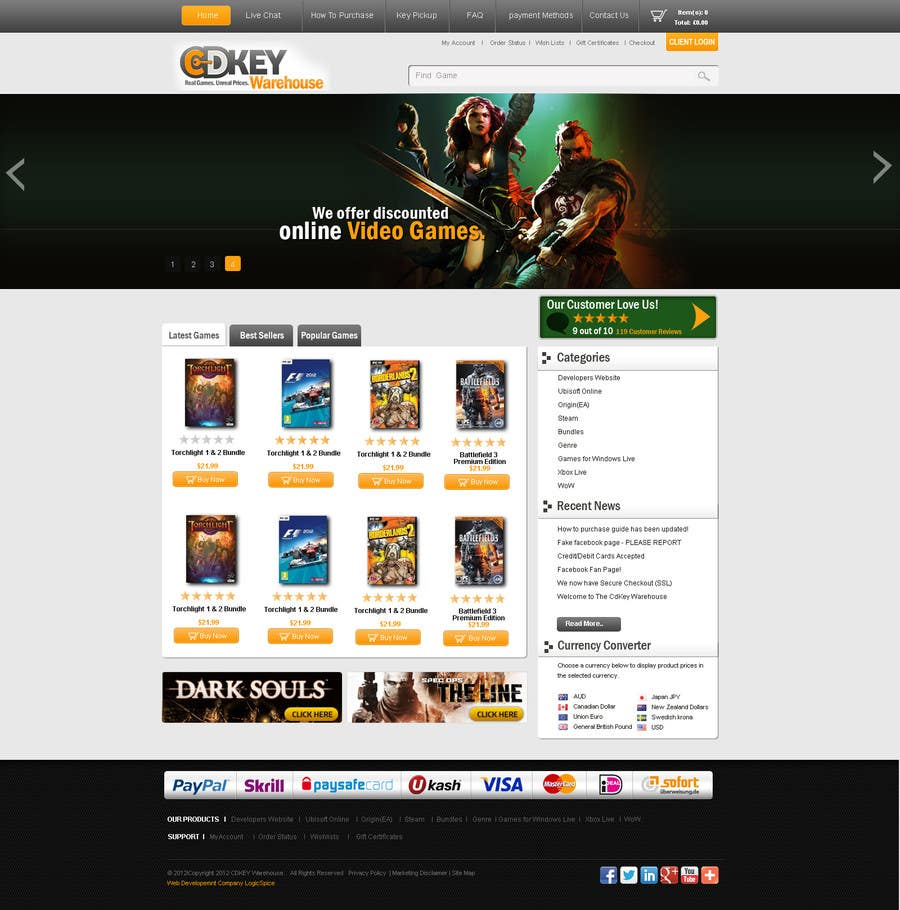 #9 for Website Design for CDKEY Warehouse for interspire shopping cart by phpMaestro