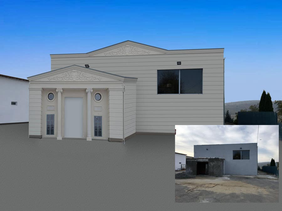 Proposition n°3 du concours design a building(wedding hall) facade