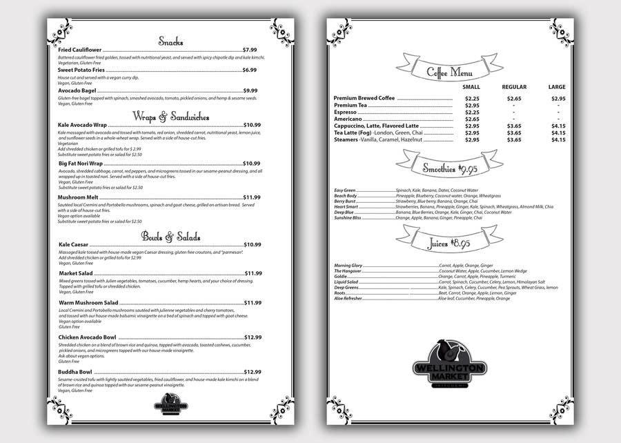 Proposition n°8 du concours Restaurant Food and Drink Menu