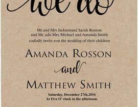 #12 para Design a Wedding Invite de sonalfriends86