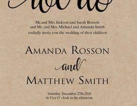 #14 para Design a Wedding Invite de sonalfriends86