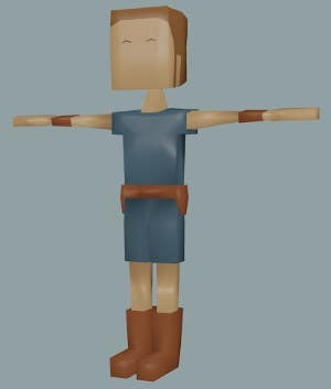 Entry #19 by loujun1954 for Model a Low Poly 3d Character