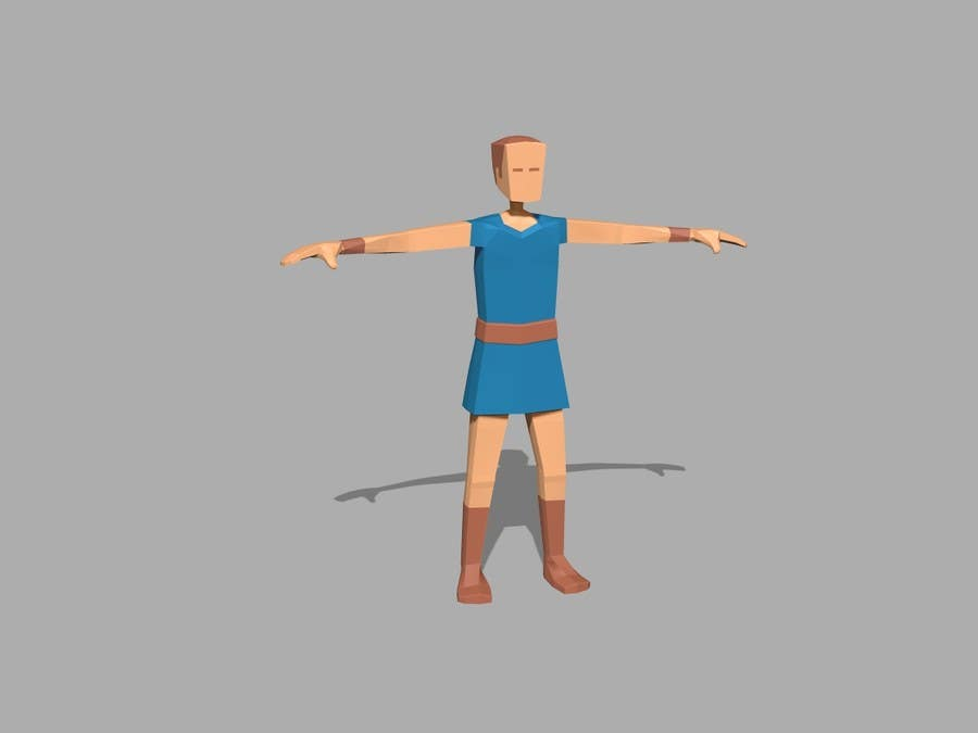 Entry #24 by passionate3d for Model a Low Poly 3d Character