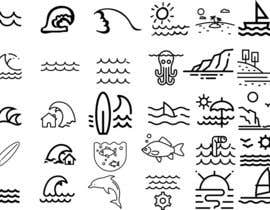 nº 8 pour Design Icon Set (Surf, Ocean, Coast Inspired) par kciuq