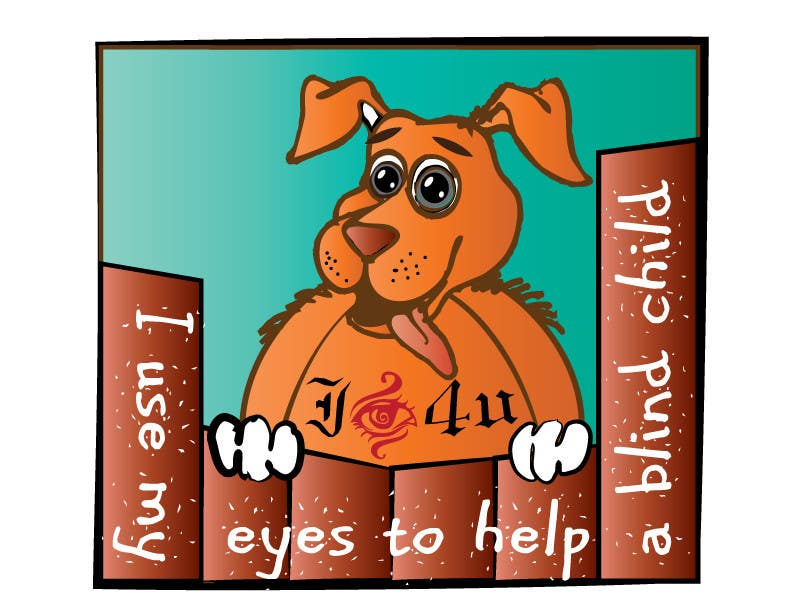#27 for Cartoon illustration for charity: Use your eyes to help a blind child by misutase