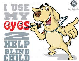 #30 for Cartoon illustration for charity: Use your eyes to help a blind child af helvioavelar