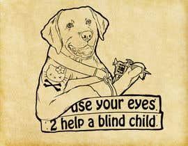 #11 para Cartoon illustration for charity: Use your eyes to help a blind child por supermagnetron