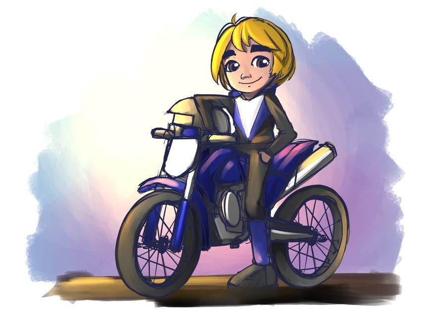 Proposition n°20 du concours Illustrate Game Character and Motorcycle (2D)