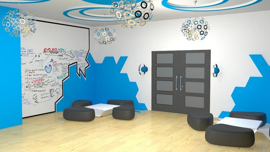 Kilpailutyö #                                        14                                      kilpailussa                                         3d interior Design for 2 rooms (2 days contest) -- 1000$ project