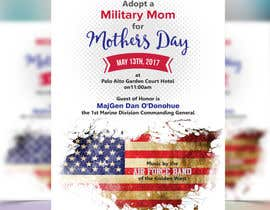 nº 7 pour Military Mothers Day Flyer Template par meenapatwal