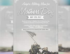 nº 8 pour Military Mothers Day Flyer Template par meenapatwal