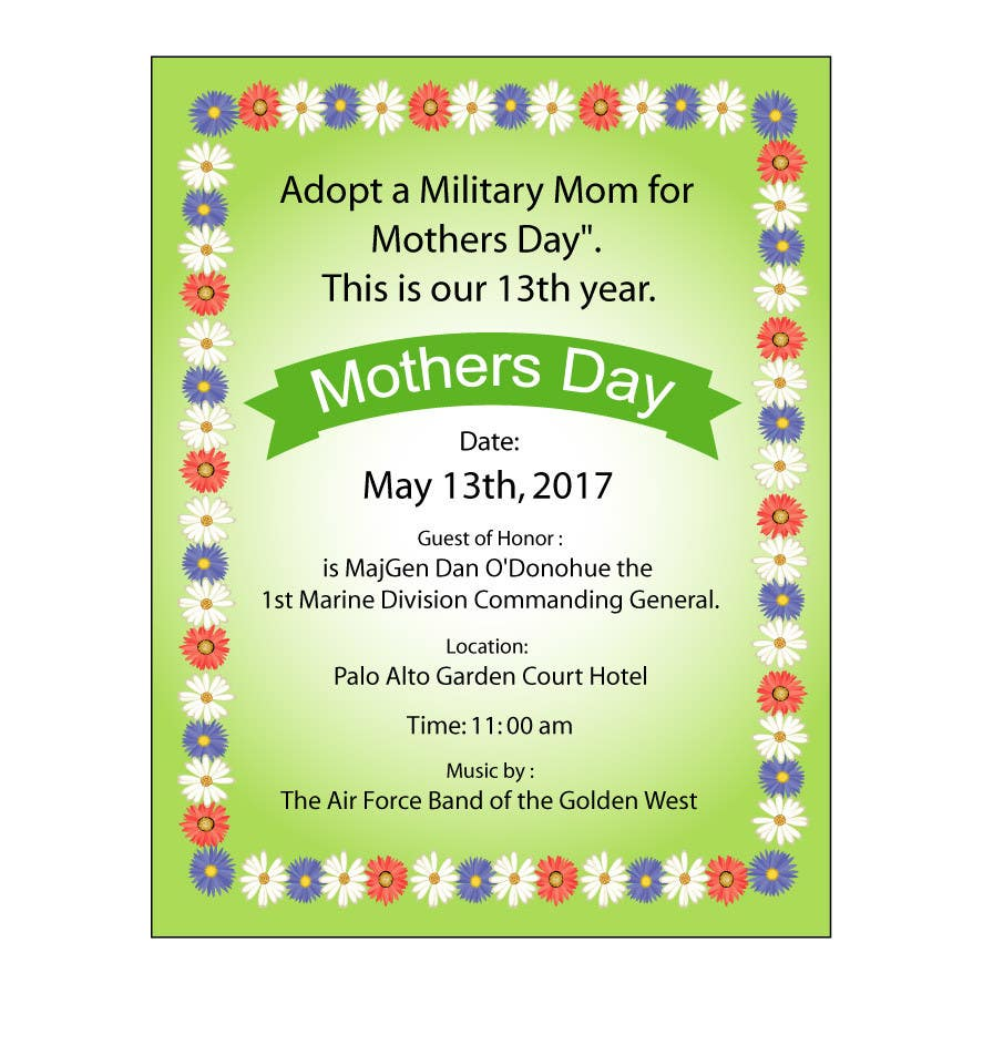 Proposition n°51 du concours Military Mothers Day Flyer Template