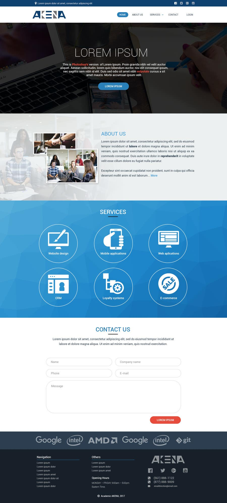 Proposition n°3 du concours Create mokup web page for Akena