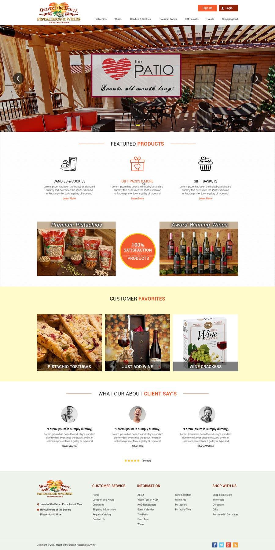 Proposition n°12 du concours Design a Website Mockup for E-commerce Site