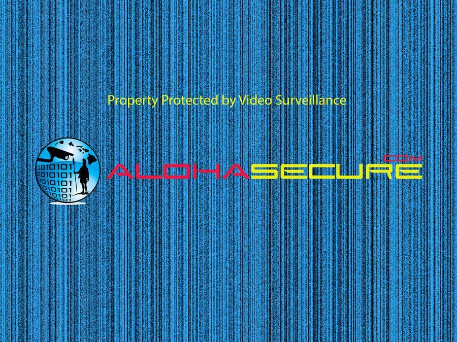 Proposition n°2 du concours Design a sign for security surveillance