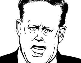 nº 23 pour Line drawing or caricature of Sean Spicer par Redlinen