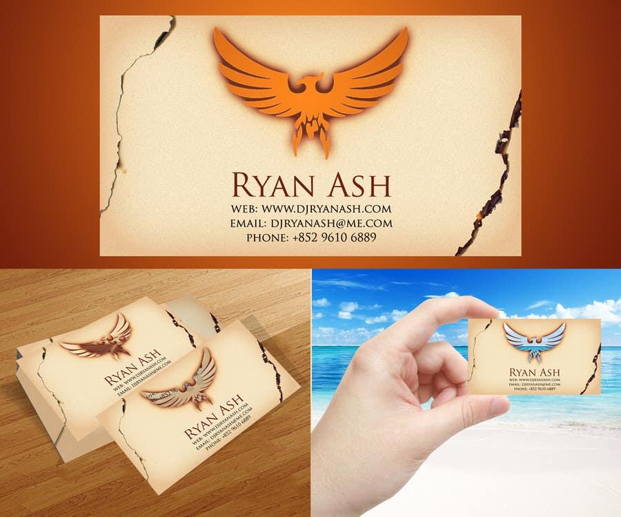 Business Card Design for Ryan Ash için 9 numaralı Yarışma Girdisi