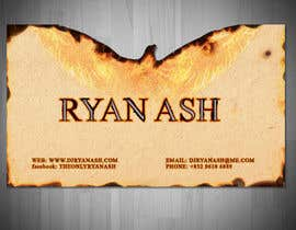 nº 35 pour Business Card Design for Ryan Ash par liviug