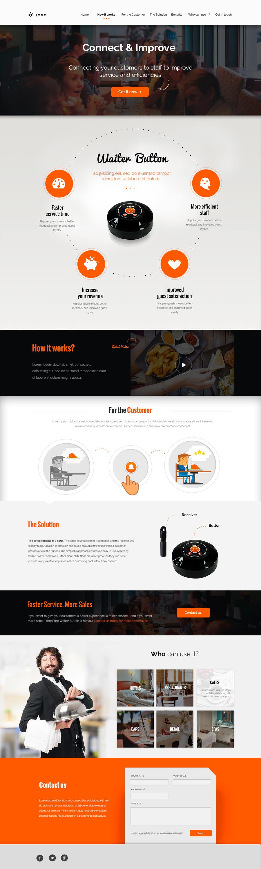Proposition n°27 du concours Design a Website Mockup for a new product