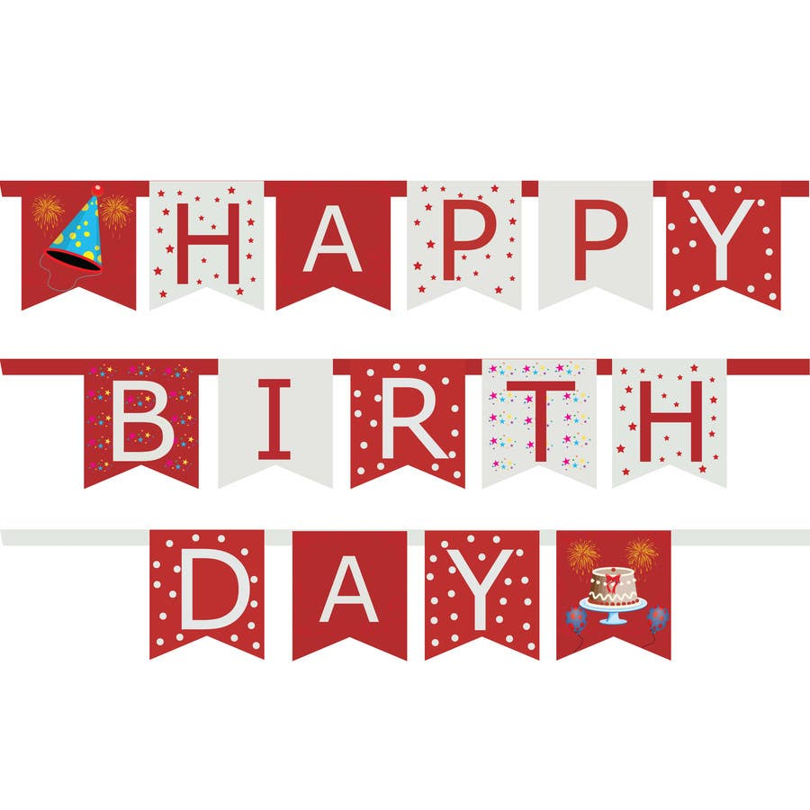 Proposition n°58 du concours Design a Happy Birthday Banner