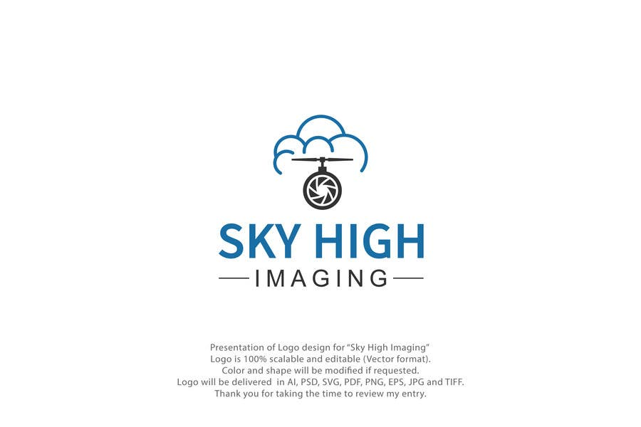 Contest Entry #77 for Nature Inspired Logo Needed for My New Drone Flying Company: Sky High Imaging.