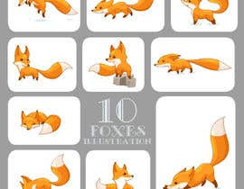 #38 for Fox Illustration - New 10 poses/positions by biboofamily