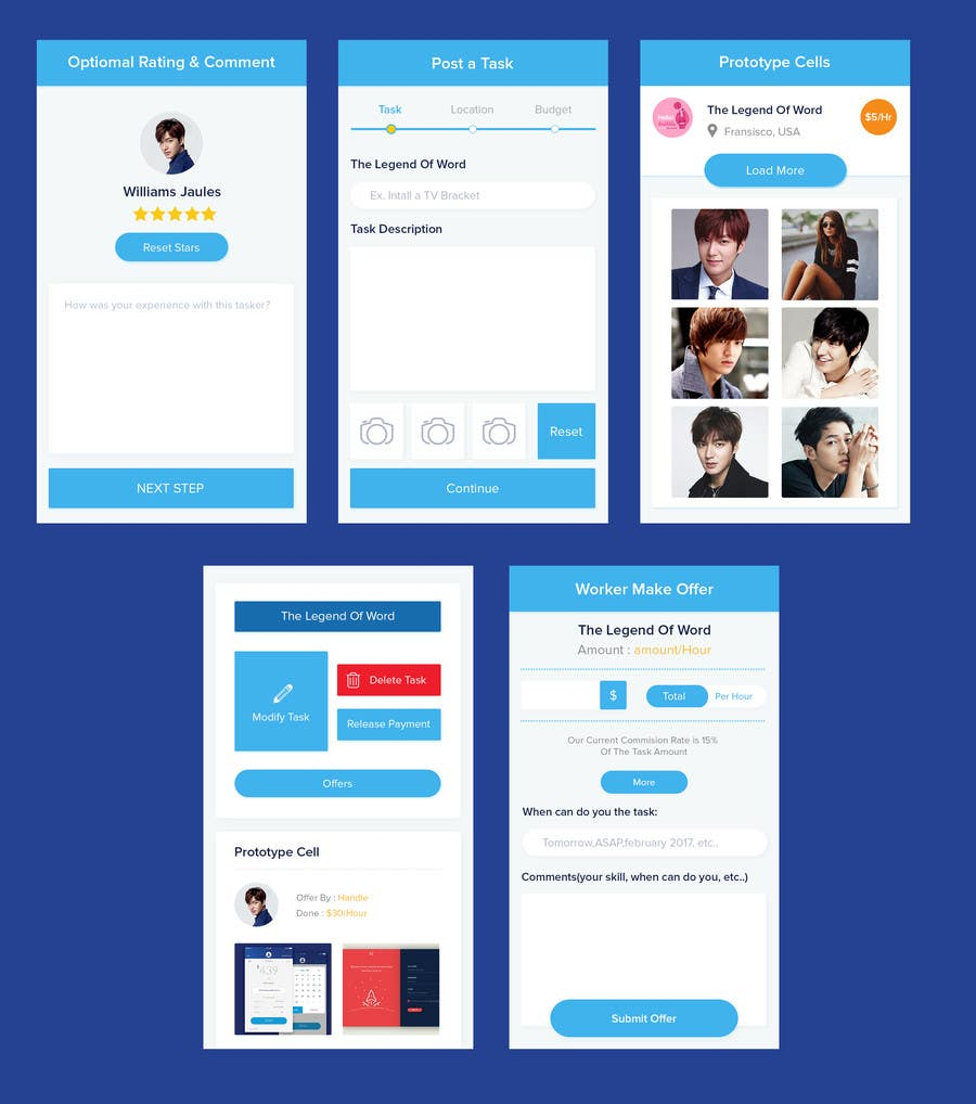Kilpailutyö #                                        6                                      kilpailussa                                         Design an App Mockup