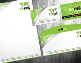 #29 untuk Letterhead, business card and envelop package design for Enheit oleh Brandwar