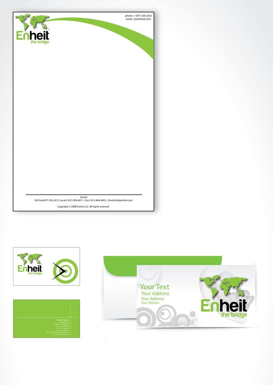 Bài tham dự cuộc thi #                                        6                                      cho                                         Letterhead, business card and envelop package design for Enheit