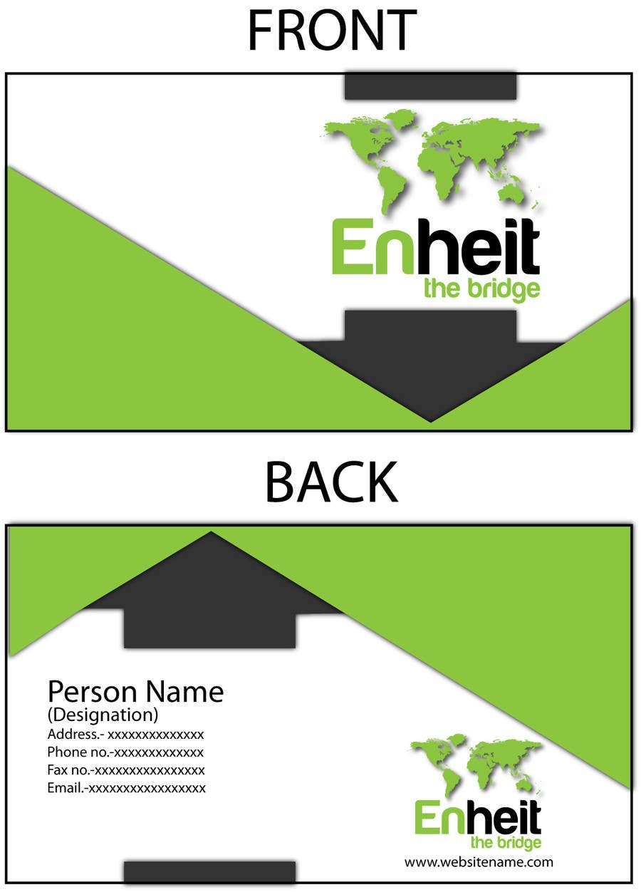 Bài tham dự cuộc thi #                                        1                                      cho                                         Letterhead, business card and envelop package design for Enheit