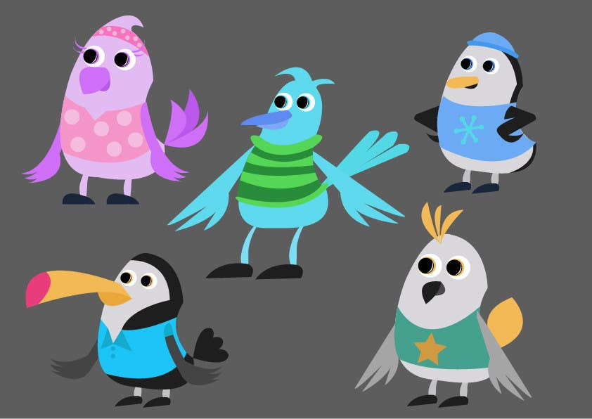 Proposition n°61 du concours Create a bird cartoon character