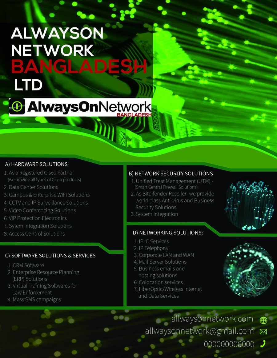 Proposition n°14 du concours Design a Flyer on our services
