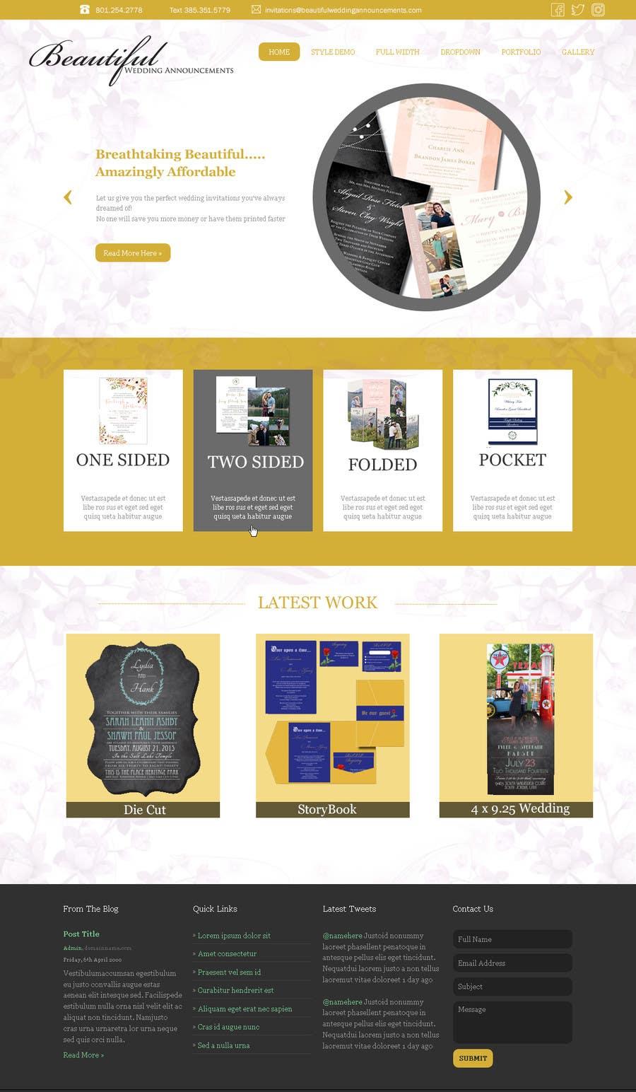 Kilpailutyö #                                        3                                      kilpailussa                                         Design a Website Mockup