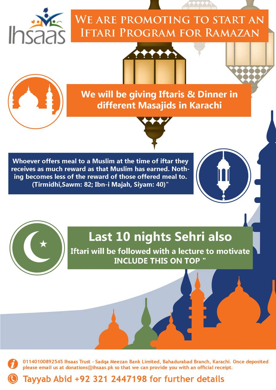 Kilpailutyö #                                        34                                      kilpailussa                                         Ihsaas Trust Ramazan Iftari Program