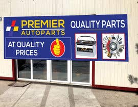 #3 for Design an Autoparts store front entrance windows graphics by sujon0787