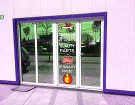 #16 for Design an Autoparts store front entrance windows graphics by sujon0787