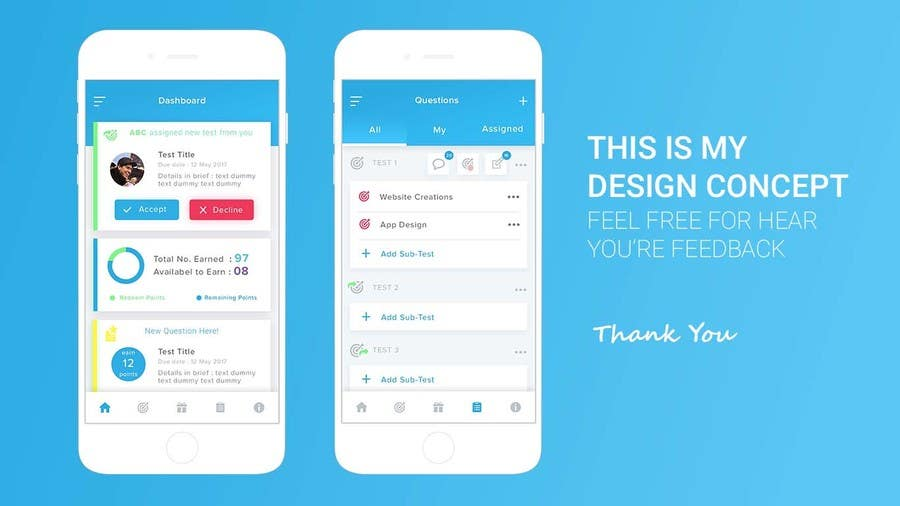 Proposition n°13 du concours Design an App Mockup