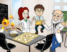 #34 for Illustrate 3 Characters of 3 Scientists in a Lab by MaKArty