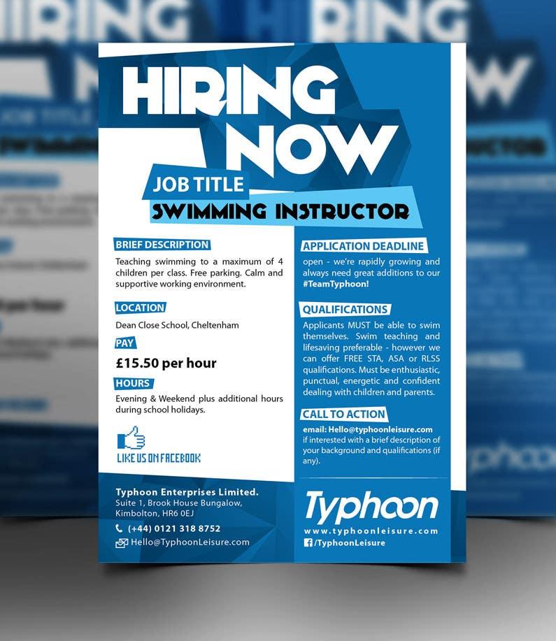 Design a job advert poster freelancer for Design firm jobs