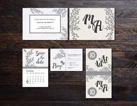 Nro 3 kilpailuun Design a modern Wedding invitation template set käyttäjältä farfalli
