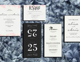 #6 for Design a modern Wedding invitation template set by zahra0501