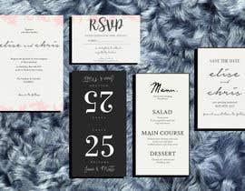 Nro 6 kilpailuun Design a modern Wedding invitation template set käyttäjältä zahra0501
