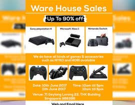 #40 for Design a Flyer for Video Games Warehouse Sales. by nazmulgraphics14